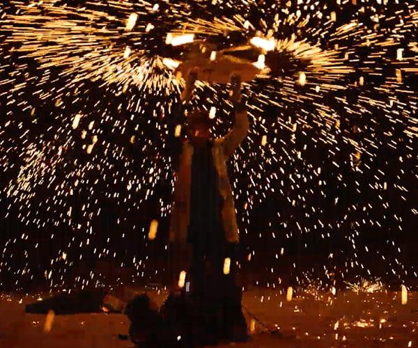 Flaming Fire Fan