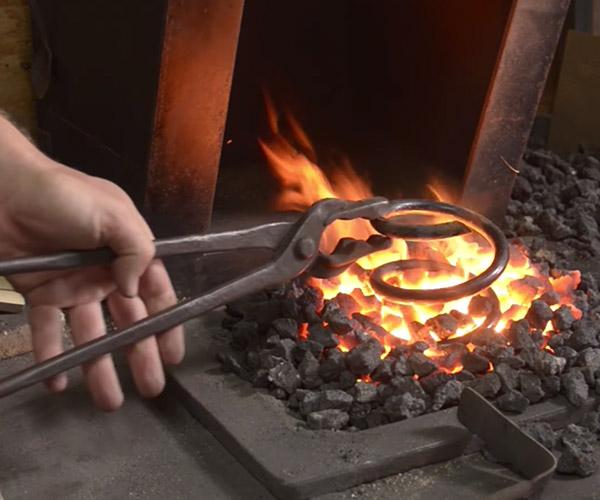 Forging Scissors from a Spring