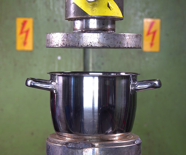 Hydraulic Press vs. Pots and Pans