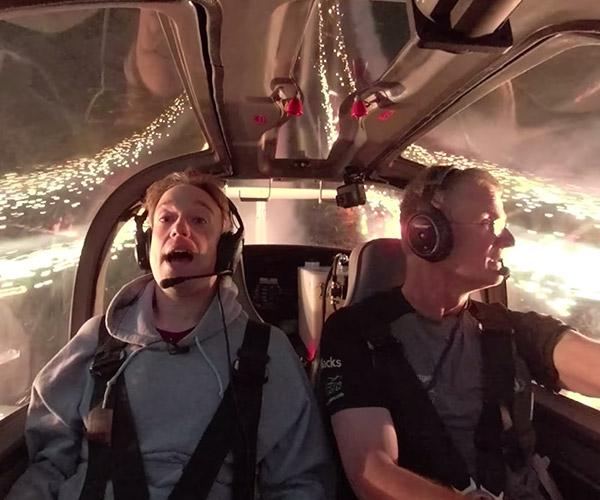 Inside a Fireworks Stunt Plane
