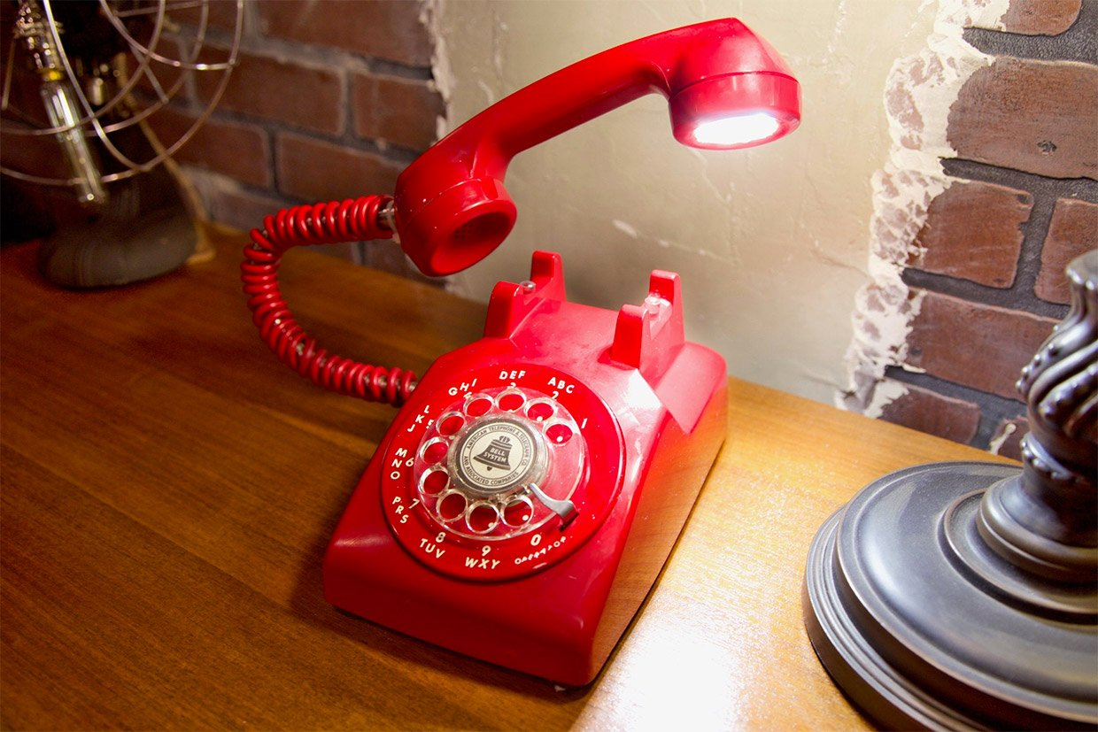 Retro Phone Lamps