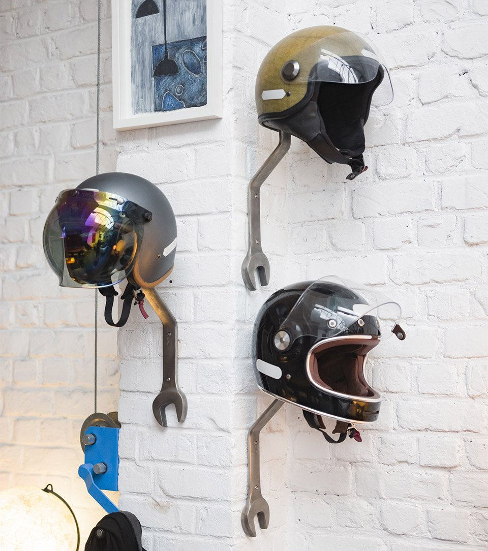 Wrench Helmet and Coat Racks