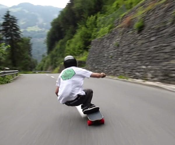 70 mph Downhill Skateboarding