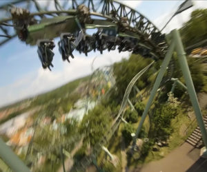 Drone Chases Roller Coaster