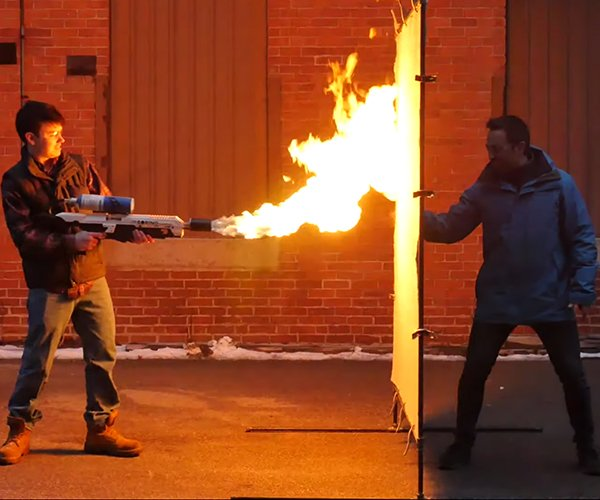 Flamethrower vs. Aerogel