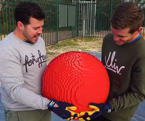 LEGO Balls vs. Trampoline