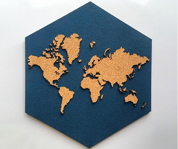 Hexagon Cork World Map