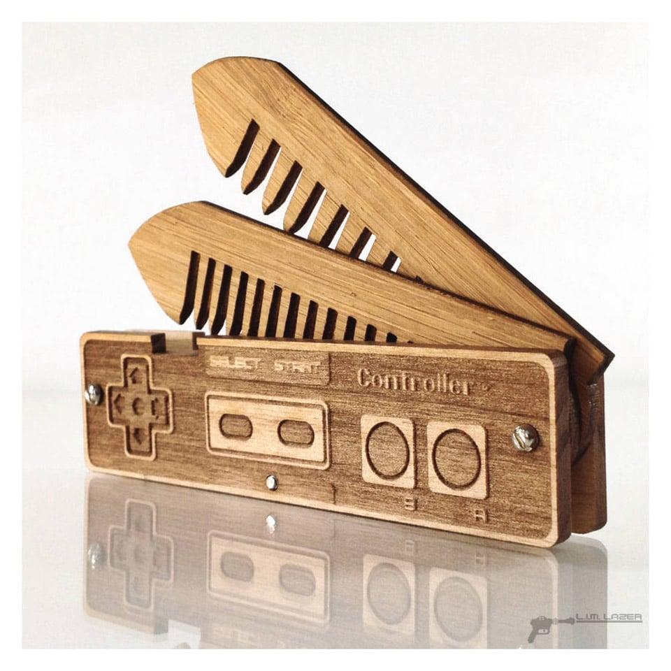 NES Controller Beard Comb