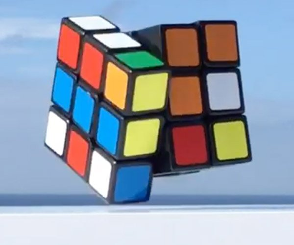 Self-Solving Rubik's Cube Floats