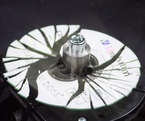 Shattering CDs in Bullet Time