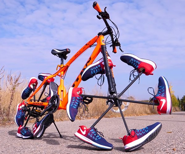 A Bicycle Built for Shoes