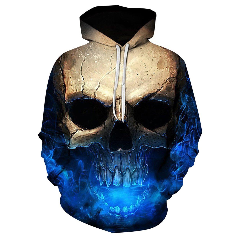 Skull Print Hoodie