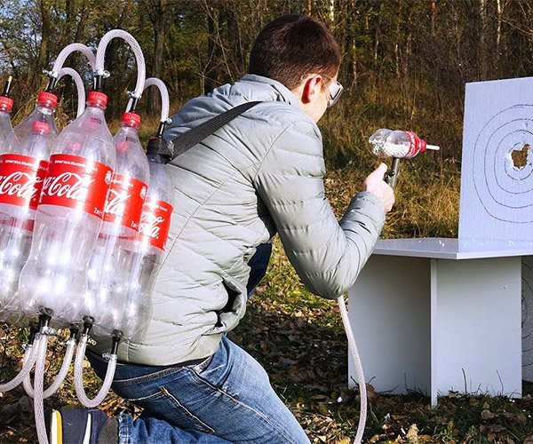 Cola Bottle Pellet Gun