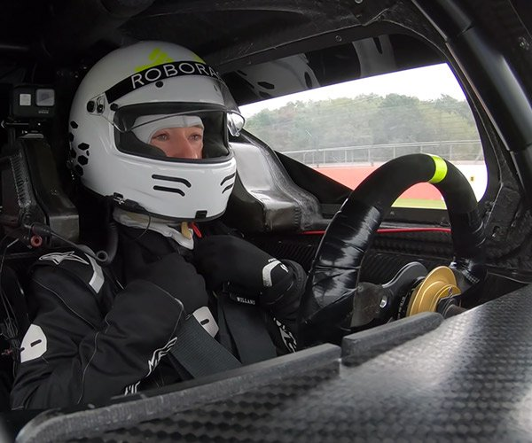 Riding in a Self-Driving Race Car