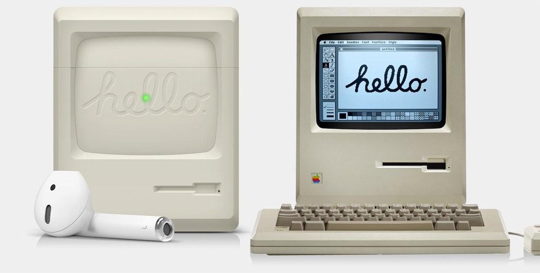Retro Mac AirPods Case