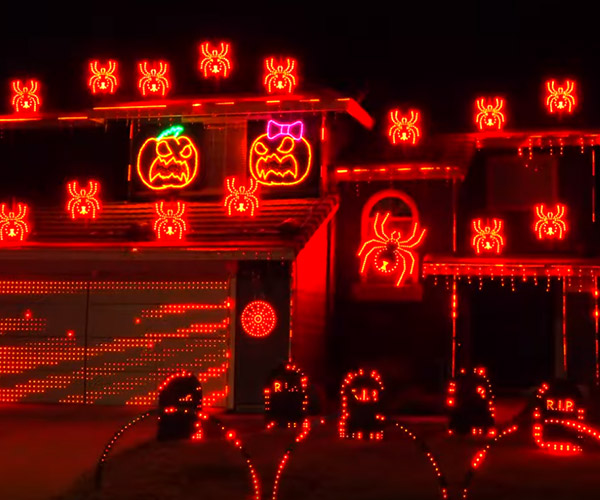 Ghostbusters Holiday Light Show