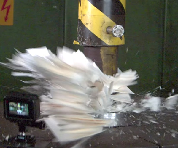 Hydraulic Press Paper Explosions