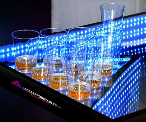 Infinity Glow Beer Pong Table