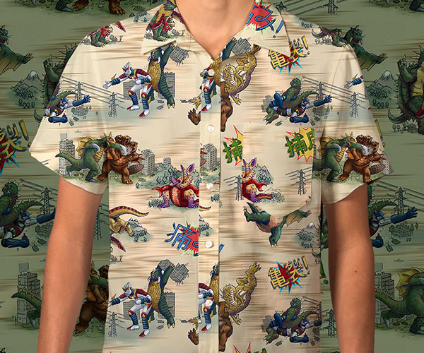 Betabrand Kaiju Cage-Match Shirt