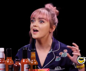 Maisie Williams vs. Hot Wings