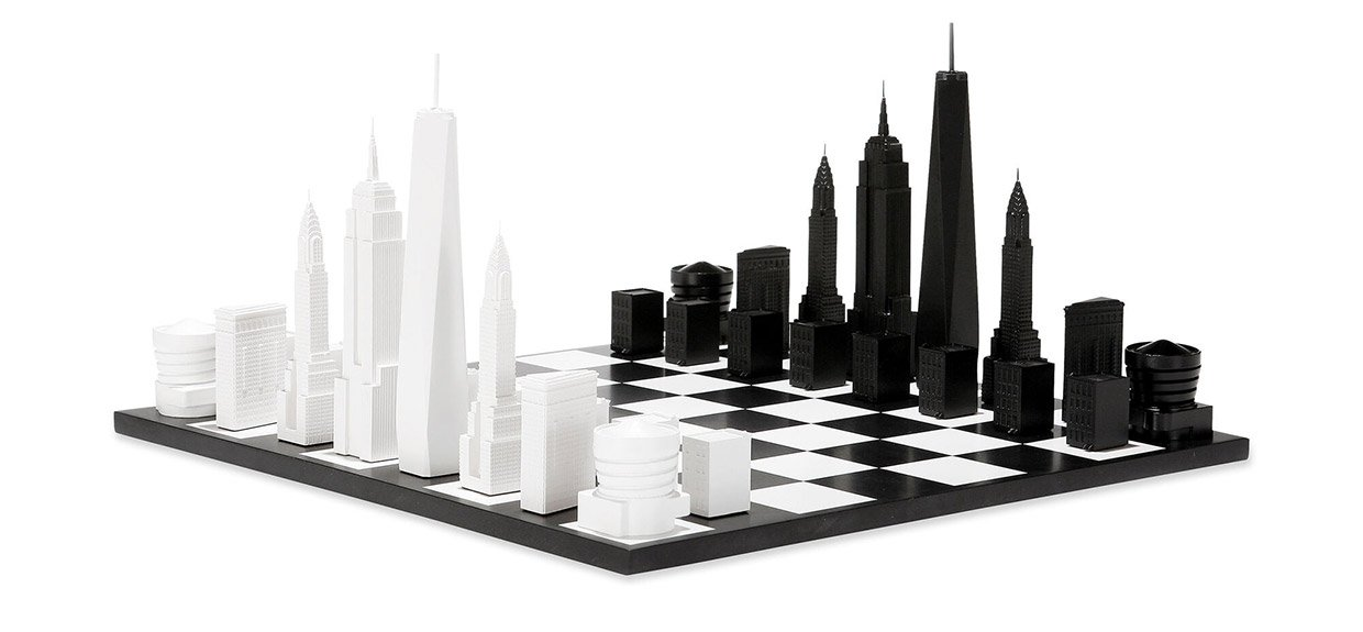 NYC Skyline Chess Set