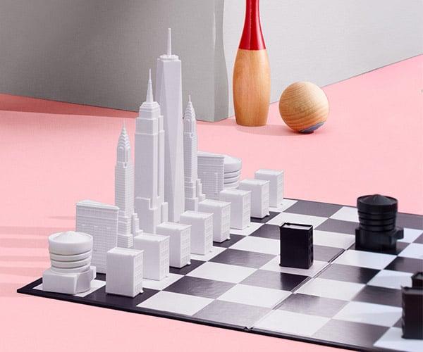 NYC Skyline Chess Set