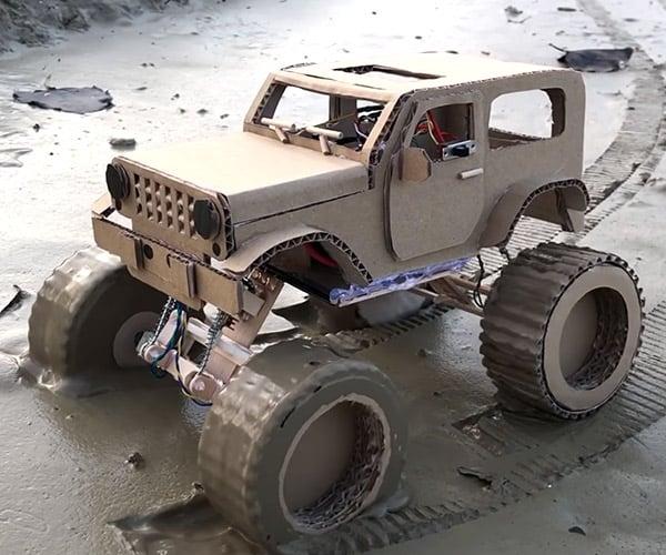 Cardboard Jeep Wrangler