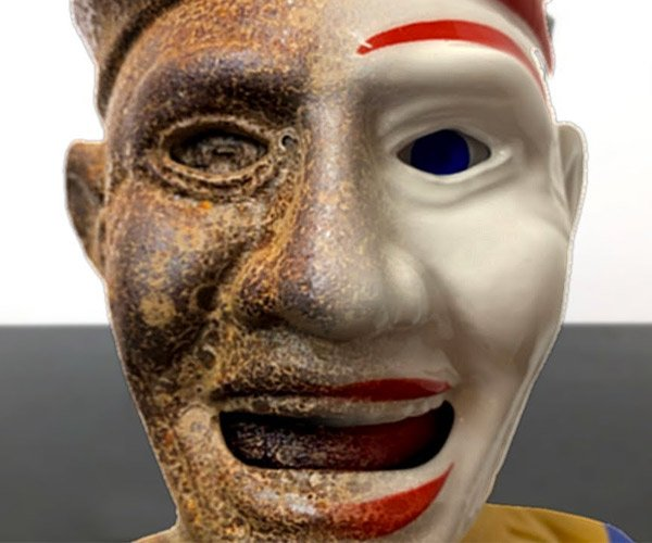 Restoring a Creepy Clown Bank