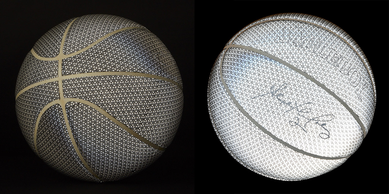Photo-Iridescent Basketballs