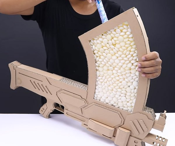 Cardboard Mentos Assault Weapon