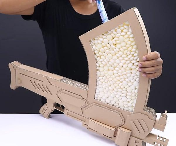 Cardboard Mentos Assault Weapon