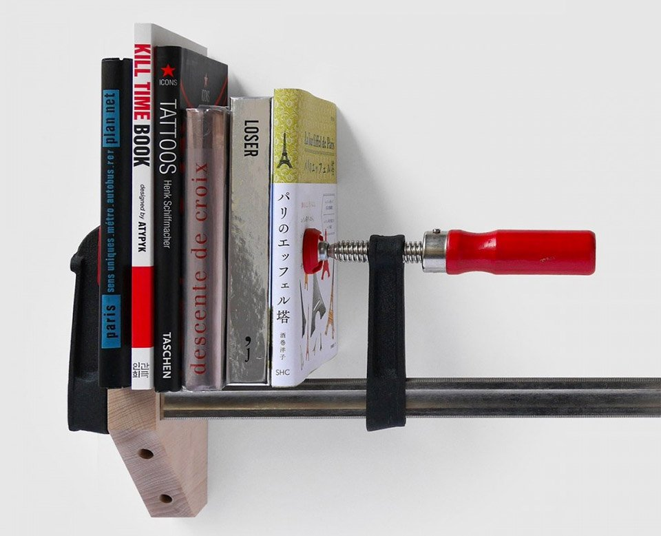 Clamp Bookshelf