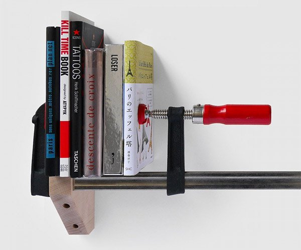 Clamp Bookshelf