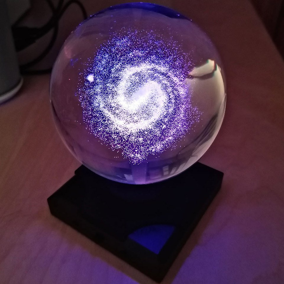 Illuminated Milky Way Orb
