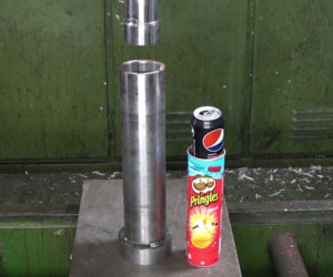 Filling a Pringles Can with Cans
