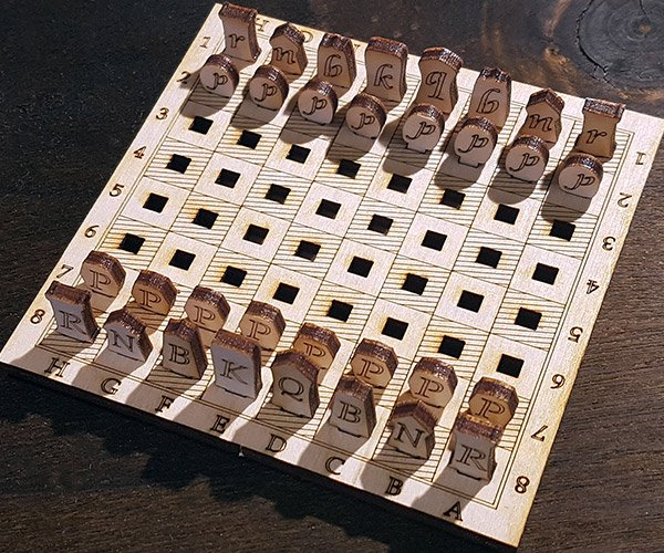 Mini Wood Chess Set