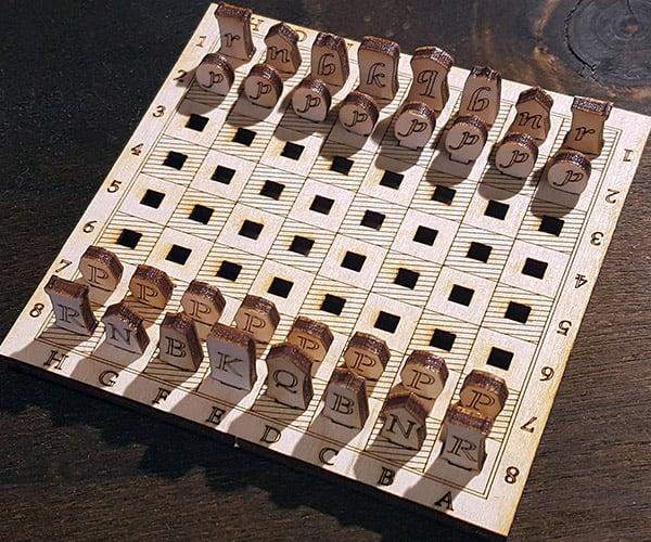 Mini Wood Chess Set