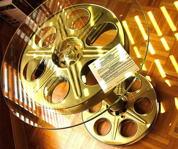 Movie Reel Side Table