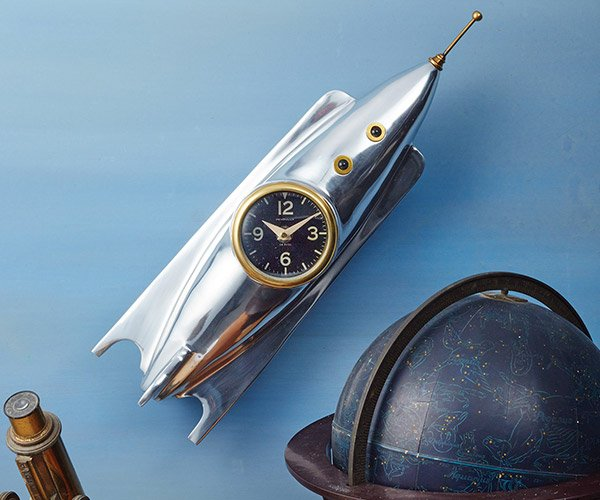 Retro Rocket Wall Clock