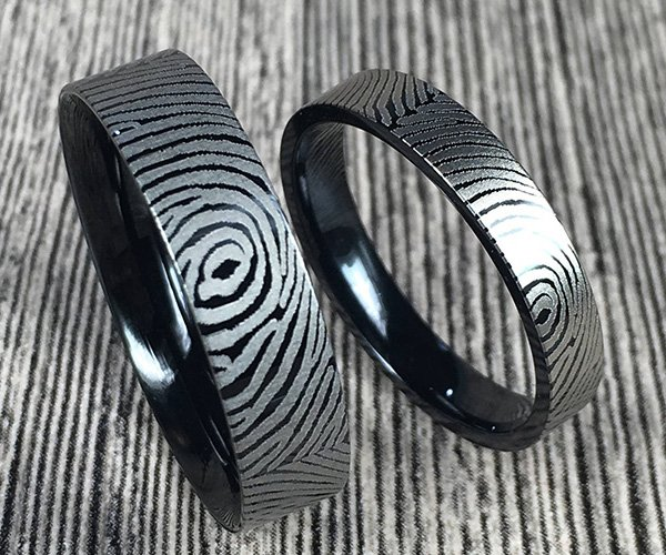 Titanium Fingerprint Rings