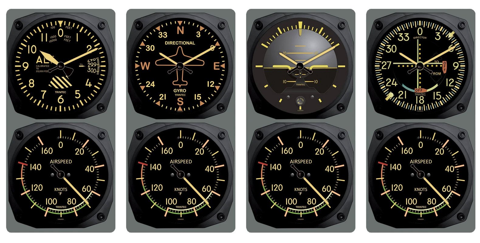 Aviation Wall Clock/Thermometer