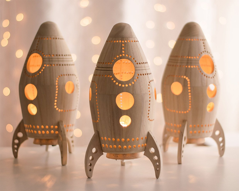 Wood Rocket Nightlights