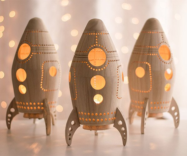 Wood Rocket Nightlights