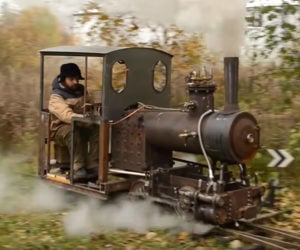 Backyard Steam Train