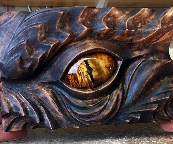 Carving Smaug's Eye