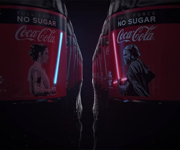 OLED Lightsaber Coke Bottles