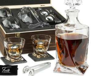 Twisted Whiskey Glass Gift Set