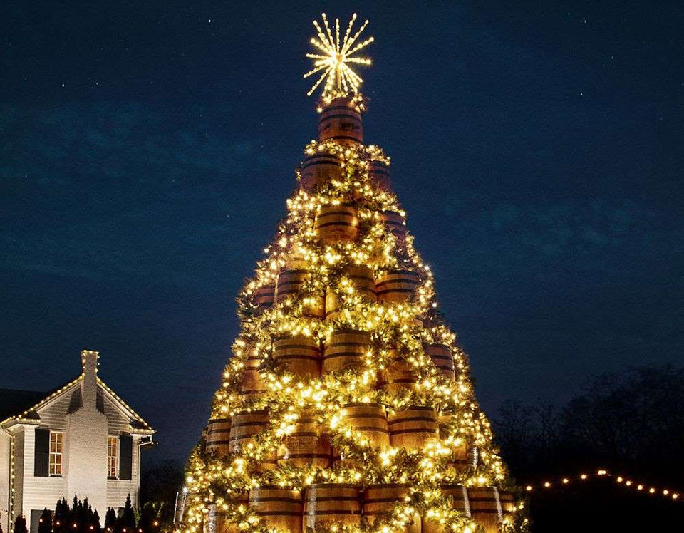 Jack Daniel's Barrel Christmas Trees