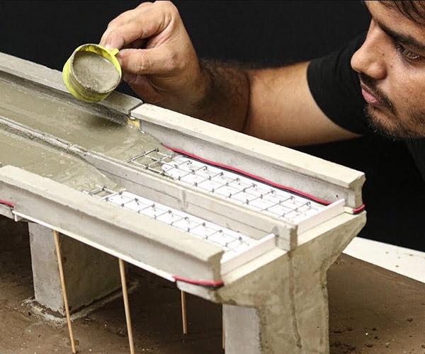 Making a Miniature Concrete Bridge