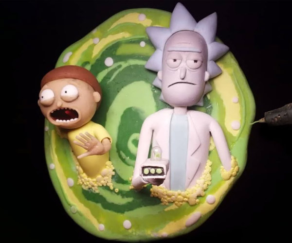 Rick and Morty 3D Pen Sculpture